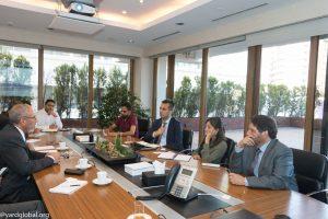 زيارة المنظمة الى بنك اكتيف AKTİF BANK   المنظمة العالمية للإغاثة والتنمية